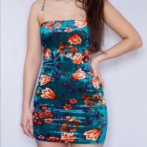 Slinky Velvet Mini Dress